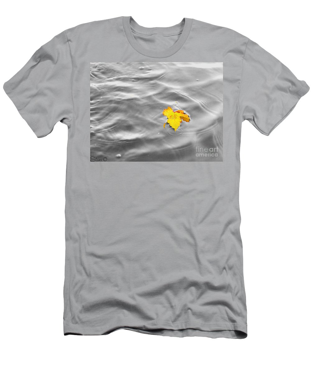 Abstract Men's T-Shirt (Athletic Fit) featuring the mixed media Lost by September Stone