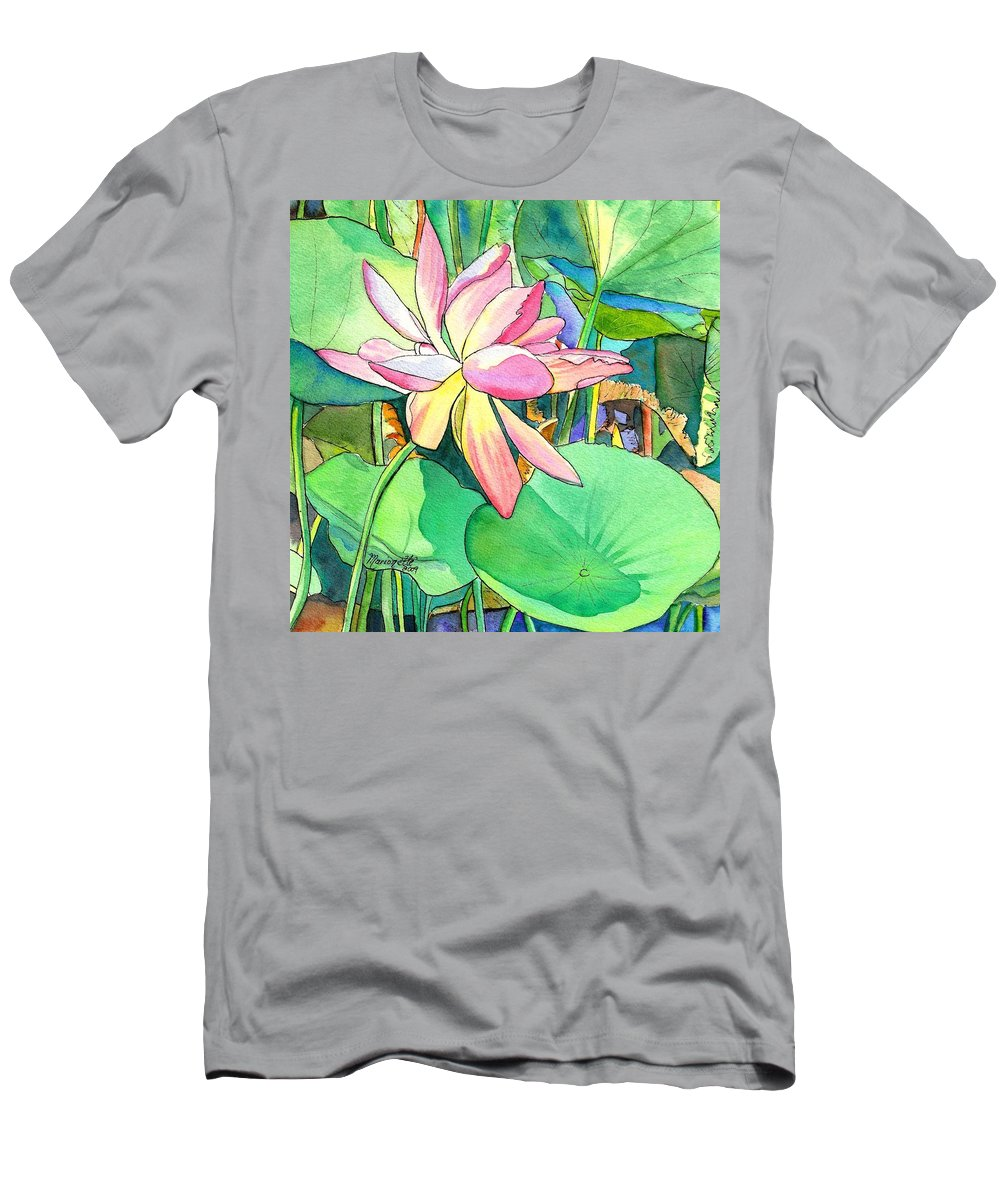 Lotus flower t shirt for sale by marionette taboniar kauai mens t shirt athletic fit featuring the painting lotus flower by marionette izmirmasajfo Images