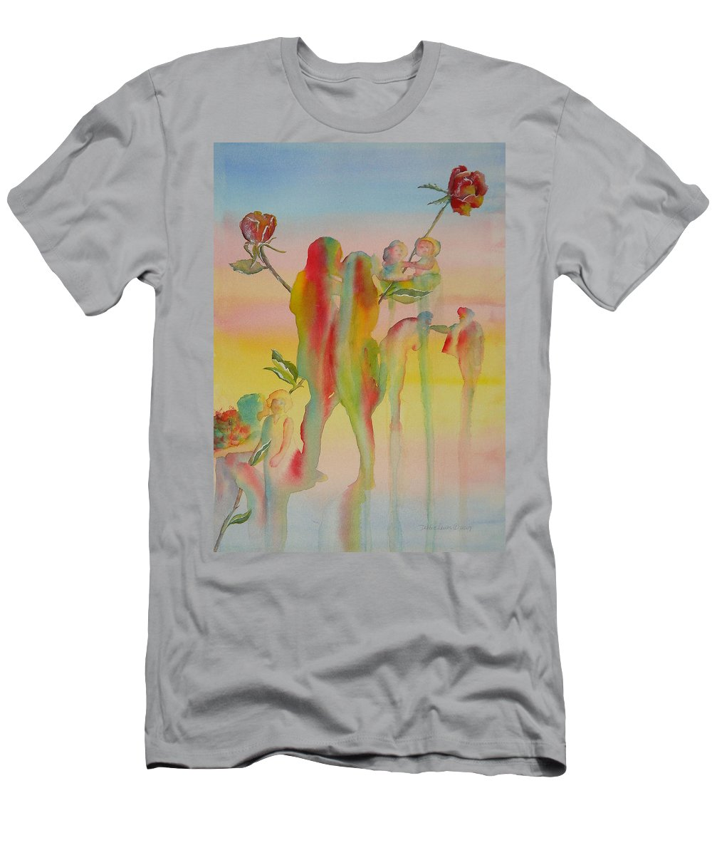 Love Men's T-Shirt (Athletic Fit) featuring the painting Love Is Eternal by Debbie Lewis