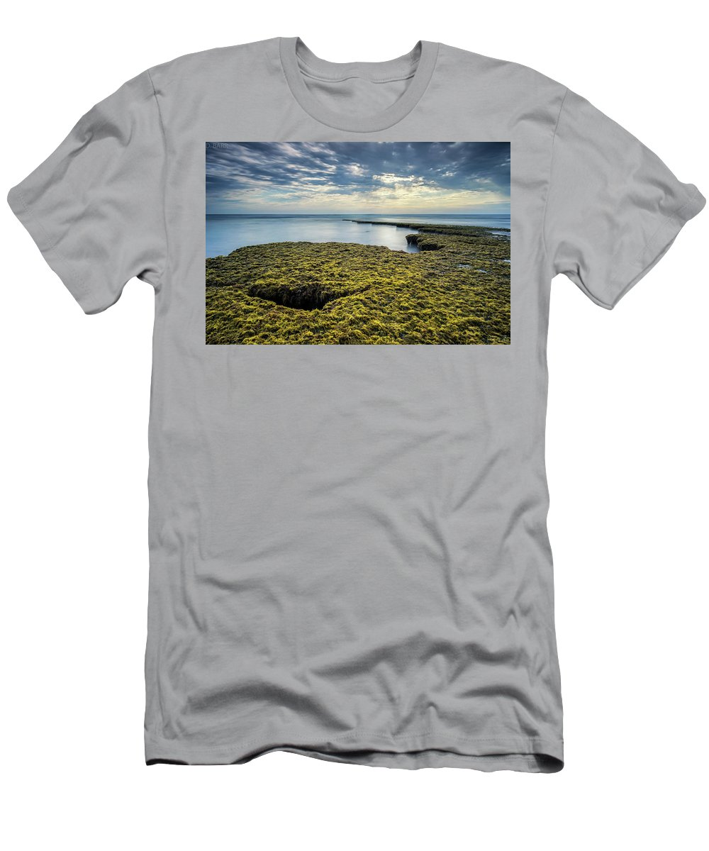 Men's T-Shirt (Athletic Fit) featuring the photograph Low Tide At Swami's by Doug Barr