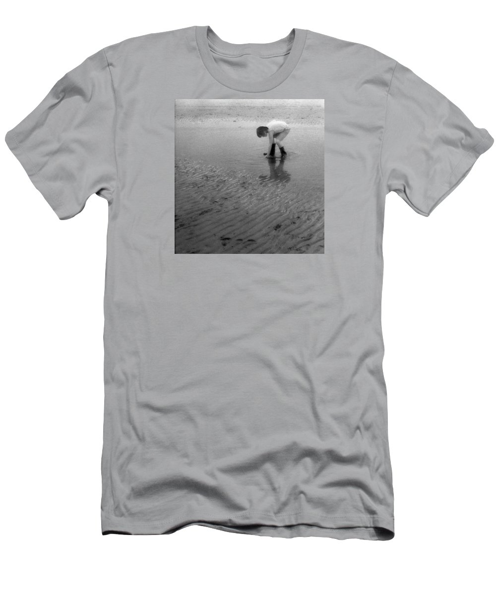 Sand Men's T-Shirt (Athletic Fit) featuring the photograph Low Tide Pool Two by Lyle Crump