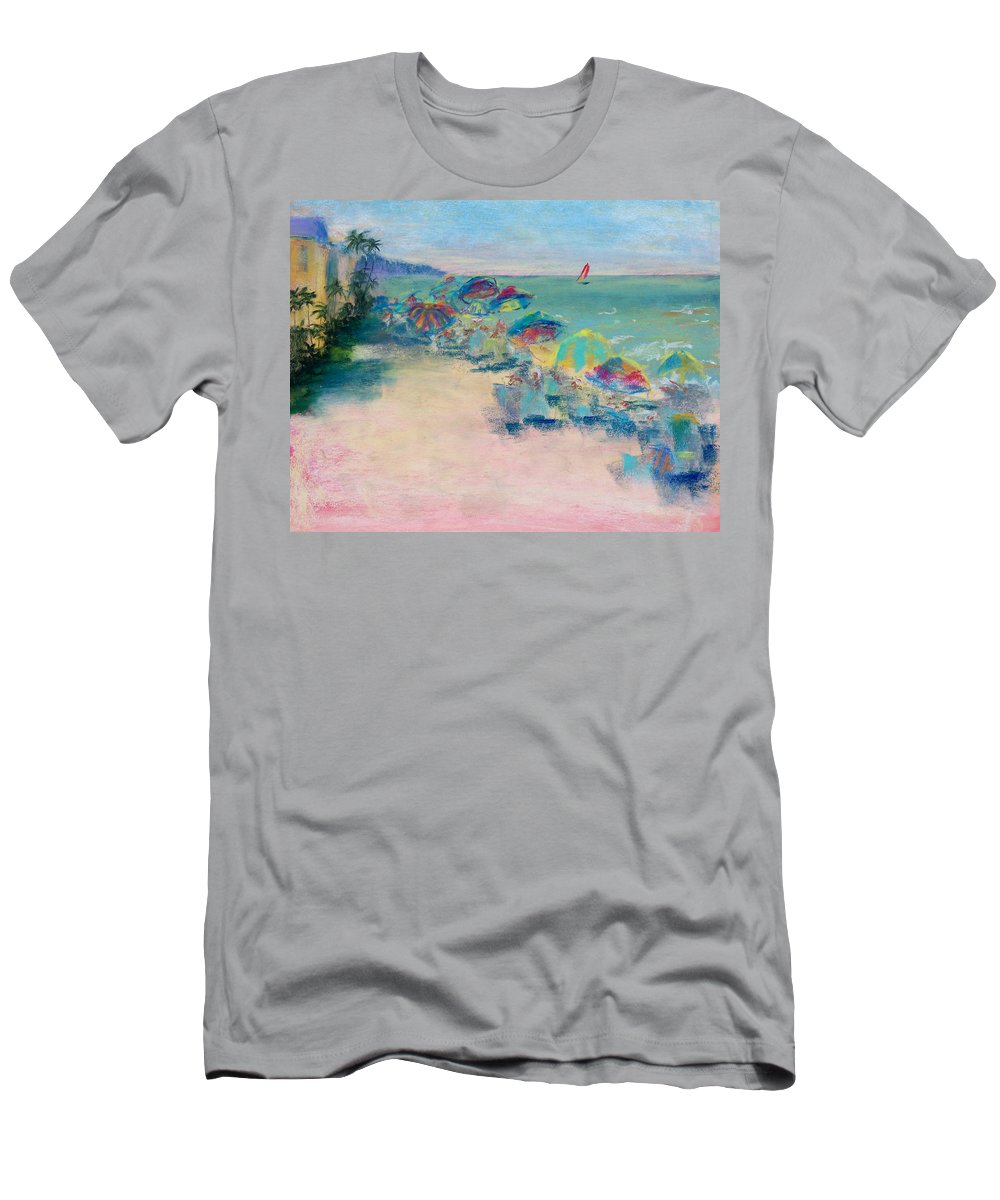 Lowdermilk Park Men's T-Shirt (Athletic Fit) featuring the painting Lowdermilk Park by Laurie Paci