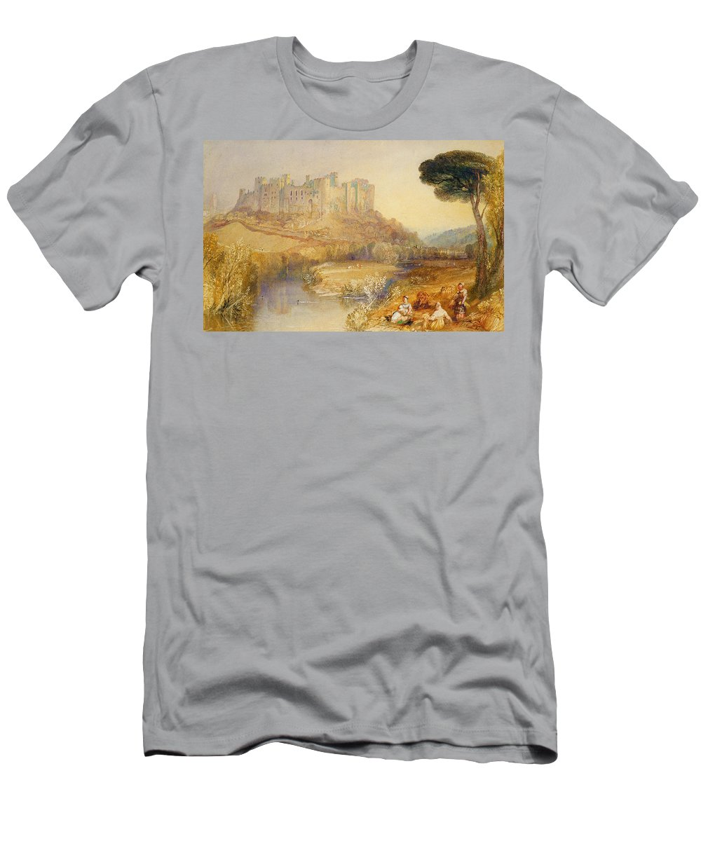 Ludlow Men's T-Shirt (Athletic Fit) featuring the painting Ludlow Castle by Joseph Mallord William Turner