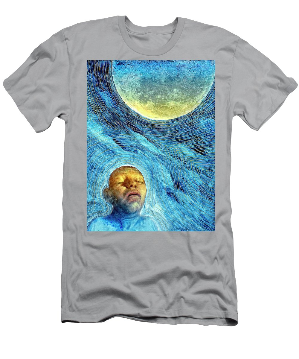 Moon Men's T-Shirt (Athletic Fit) featuring the painting Lunatic by Dominic Piperata
