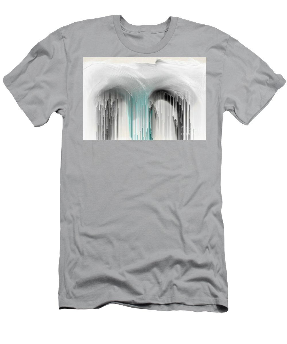 Abstract Men's T-Shirt (Athletic Fit) featuring the digital art M For Mindful by Chaos Fractals