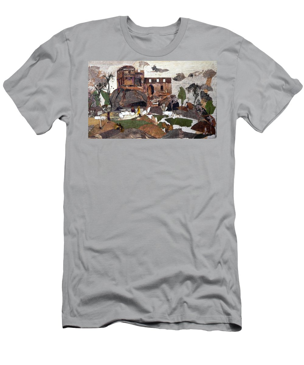 Palace Made By King Madan Shah Men's T-Shirt (Athletic Fit) featuring the mixed media Madan Mahal by Basant Soni