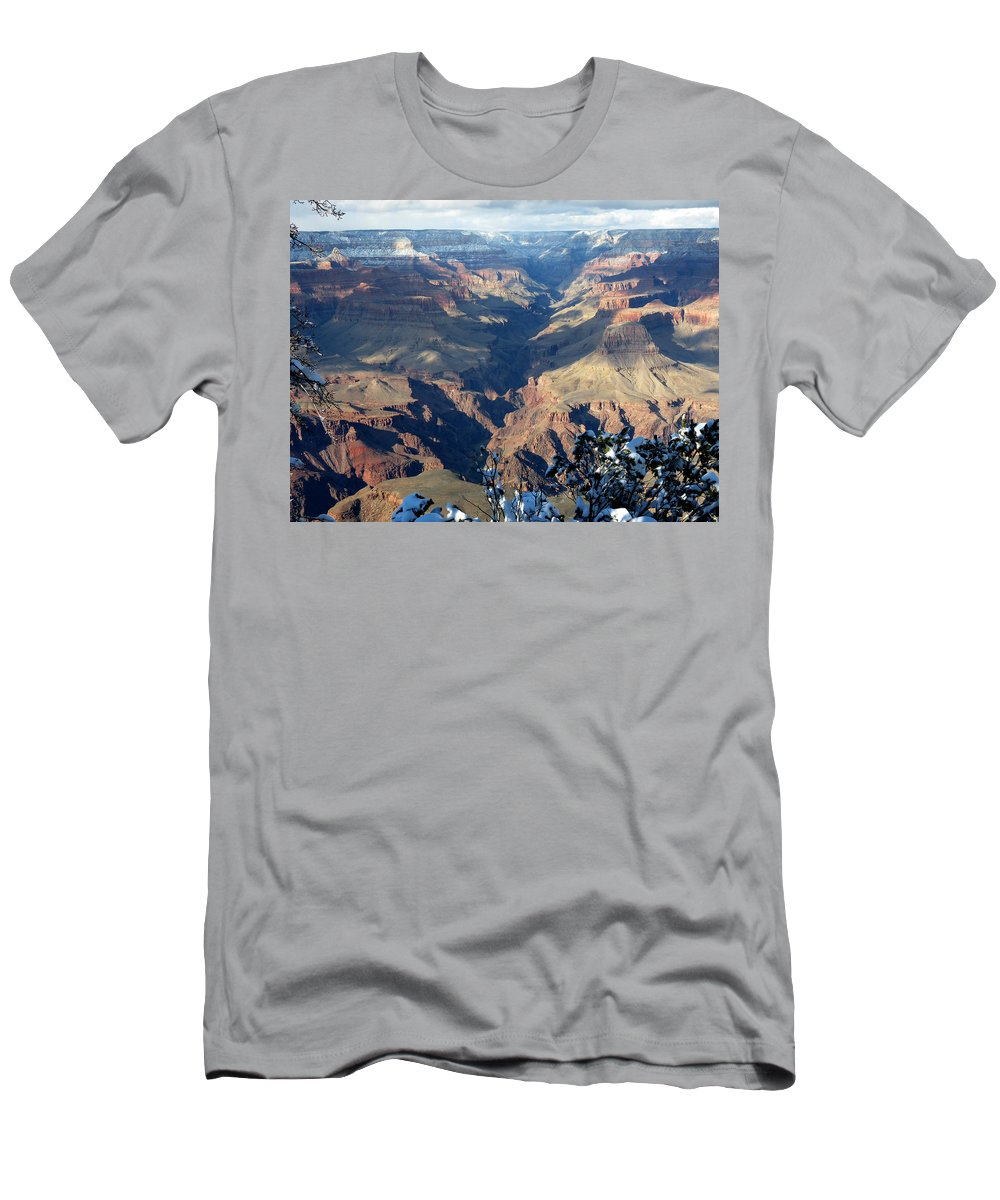 Grand Canyon Men's T-Shirt (Athletic Fit) featuring the photograph Majestic Grand Canyon by Laurel Powell