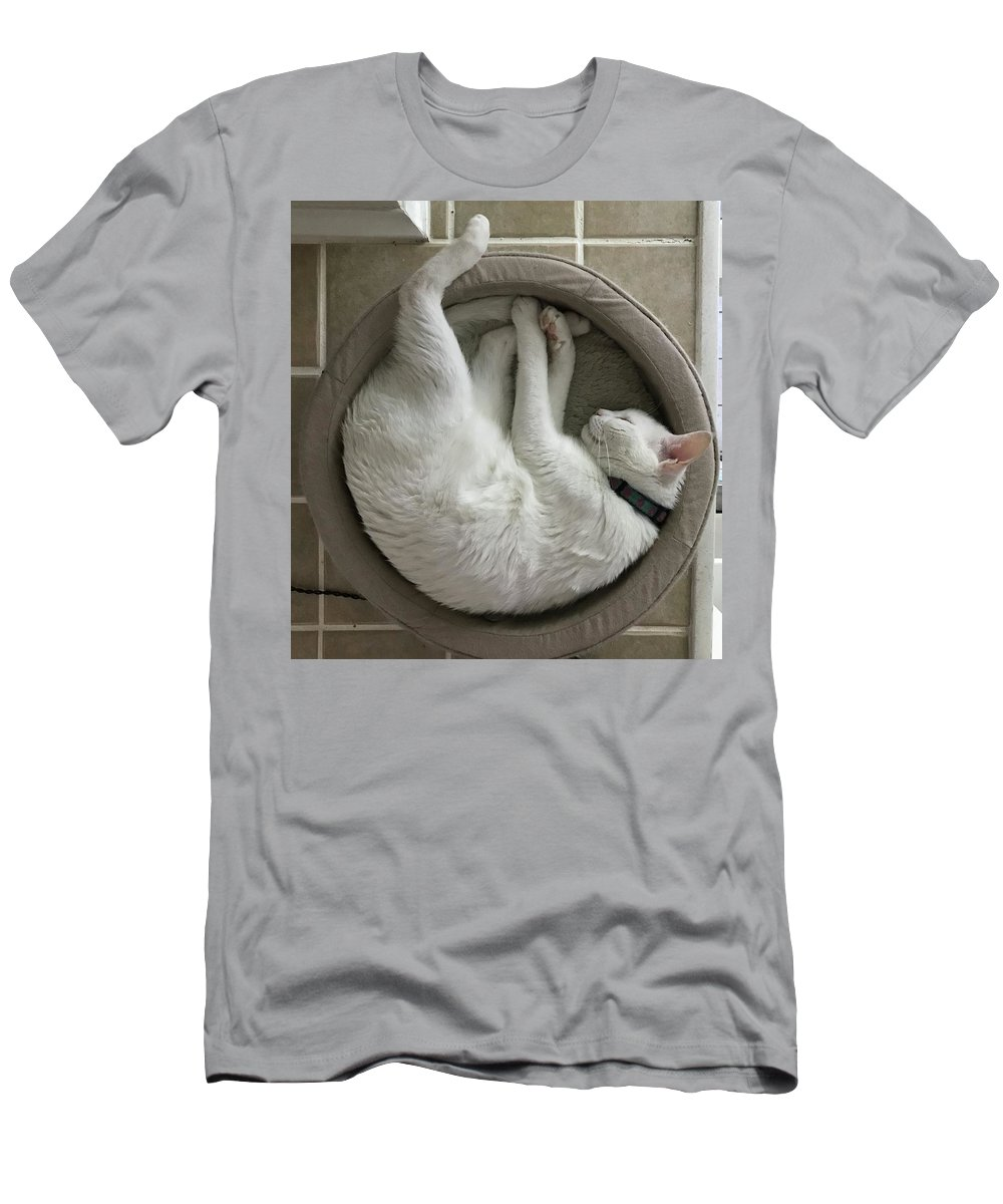 Cat Men's T-Shirt (Athletic Fit) featuring the photograph Mandala Maitri by Annette Hadley