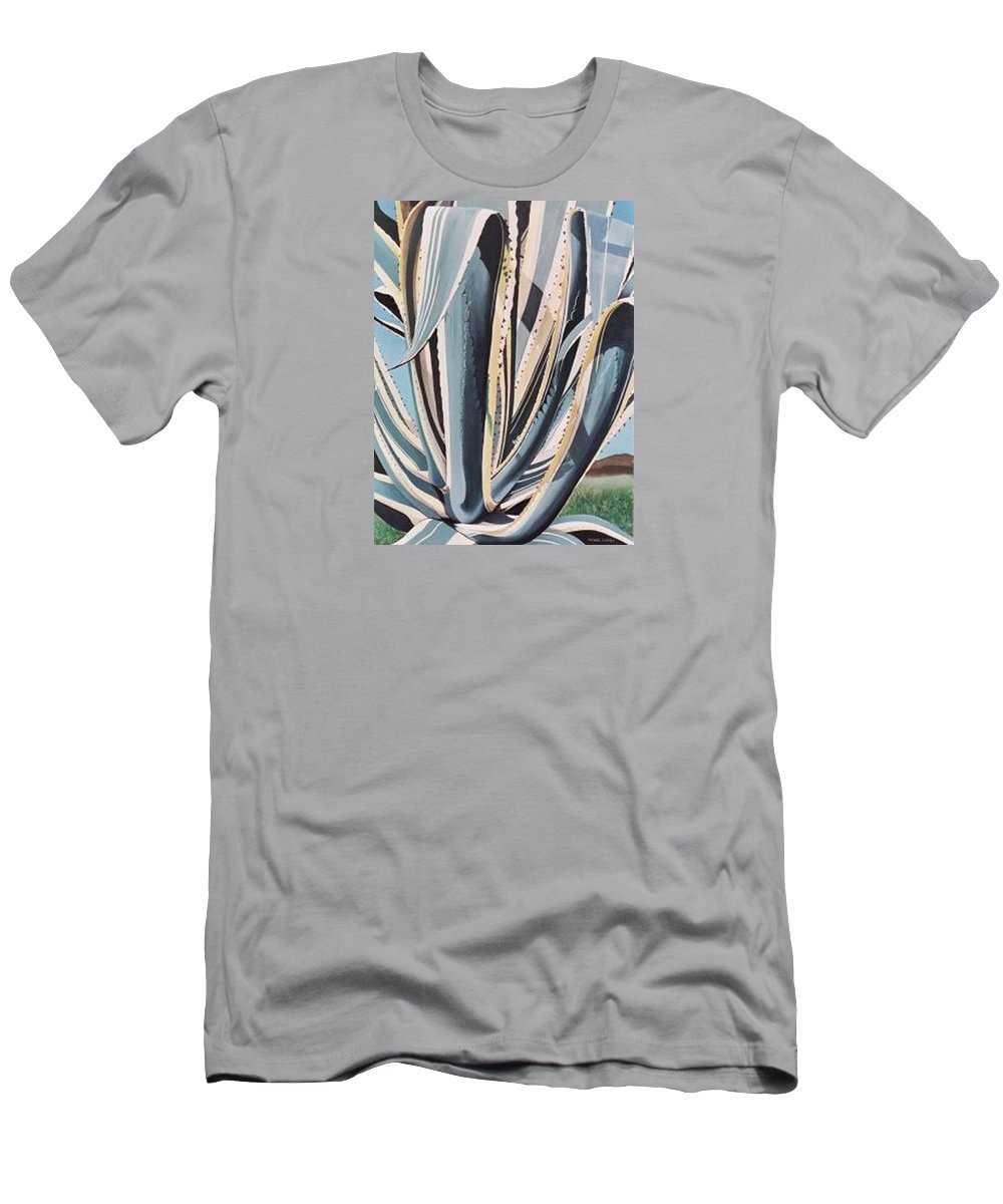 Hyperrealism Men's T-Shirt (Athletic Fit) featuring the painting Marginada Sa by Michael Earney