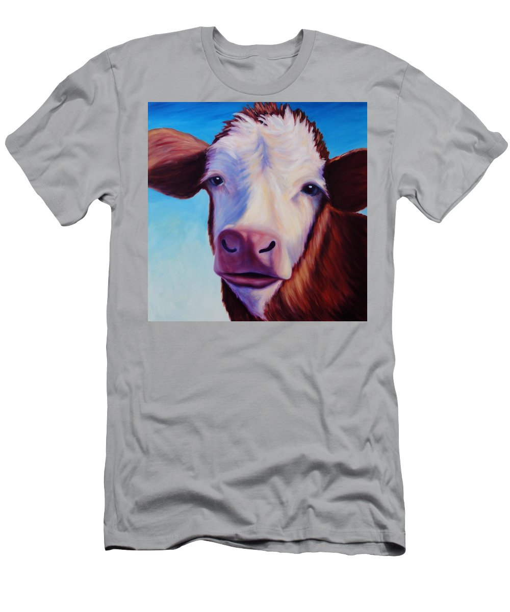 Cow Men's T-Shirt (Athletic Fit) featuring the painting Marie by Shannon Grissom