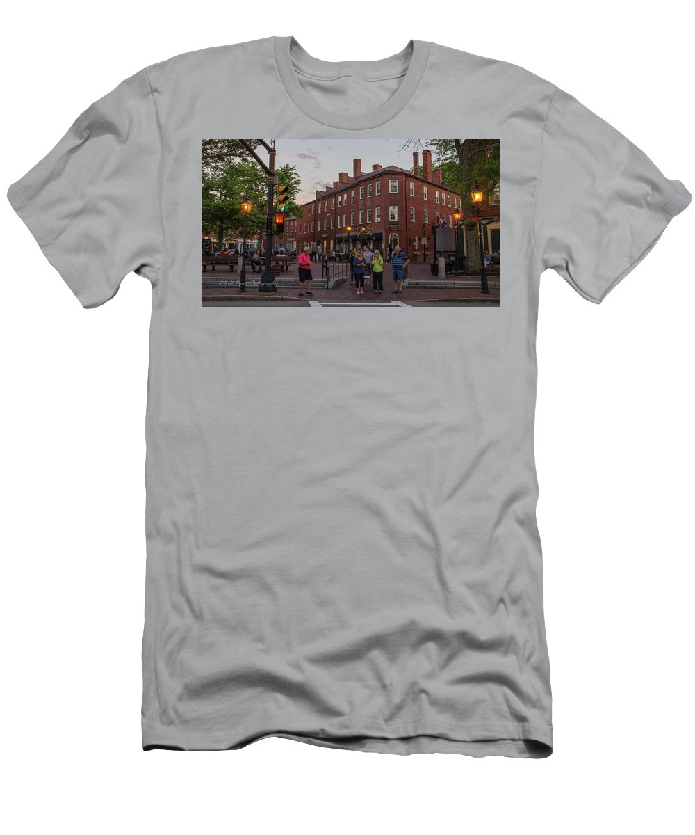 Market Sq Men's T-Shirt (Athletic Fit) featuring the photograph Market Square by Bill Ryan
