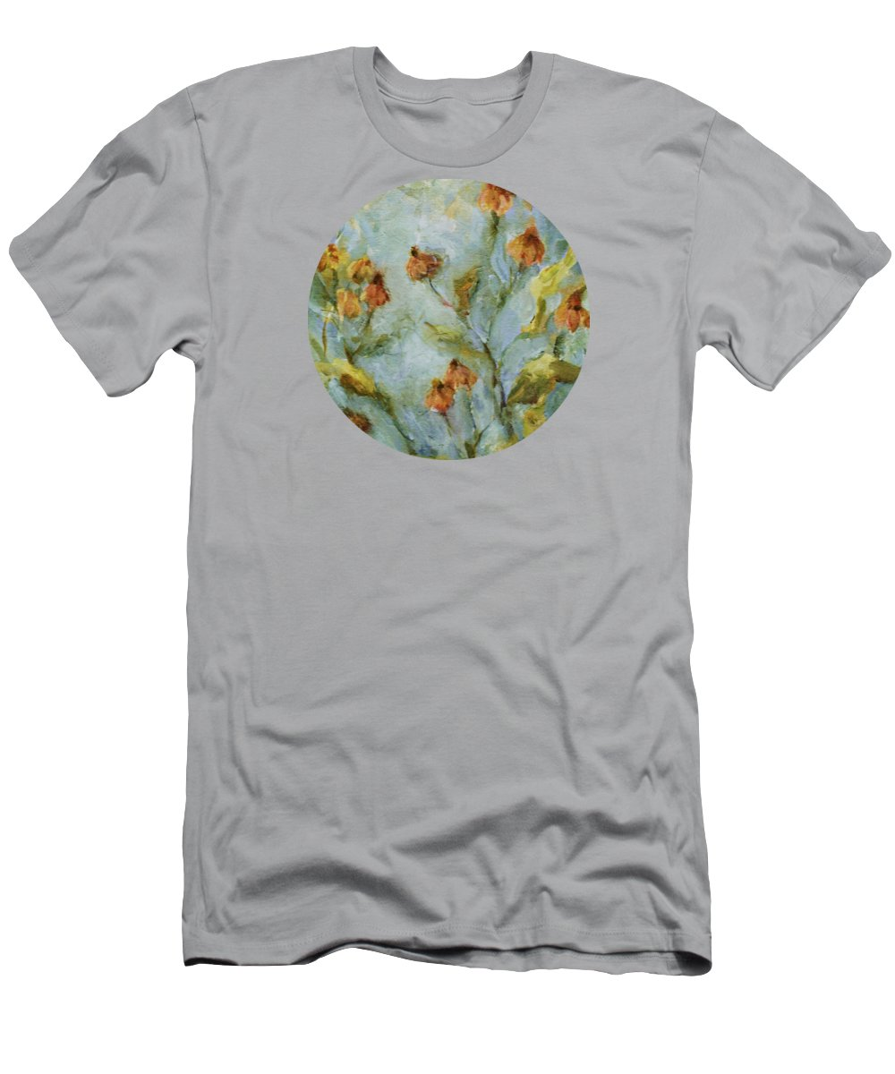 Floral Men's T-Shirt (Athletic Fit) featuring the painting Mary's Garden by Mary Wolf
