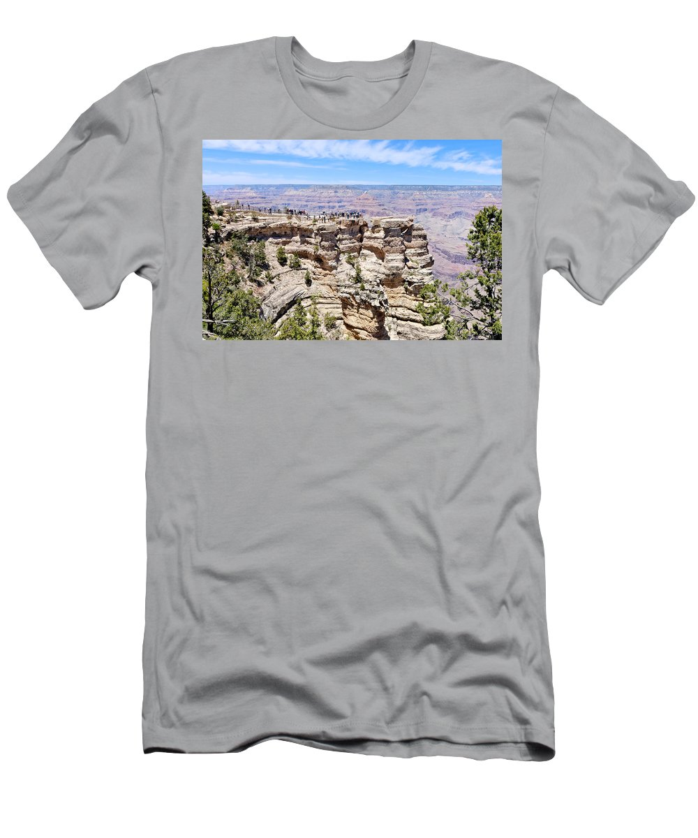 Mather Point Men's T-Shirt (Athletic Fit) featuring the photograph Mather Point At The Grand Canyon by Julie Niemela