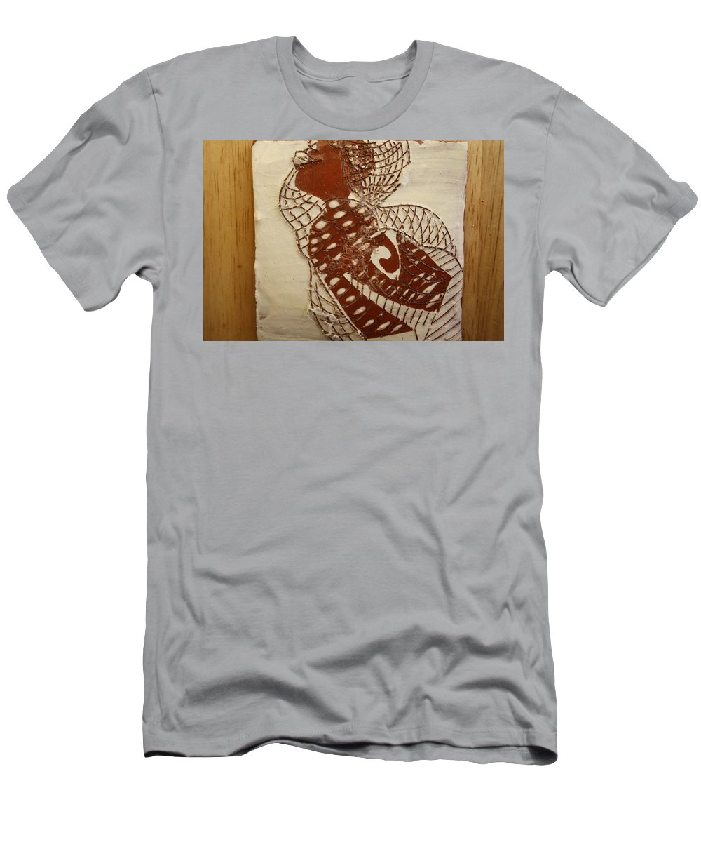 Jesus Men's T-Shirt (Athletic Fit) featuring the ceramic art Matildas Smile - Tile by Gloria Ssali
