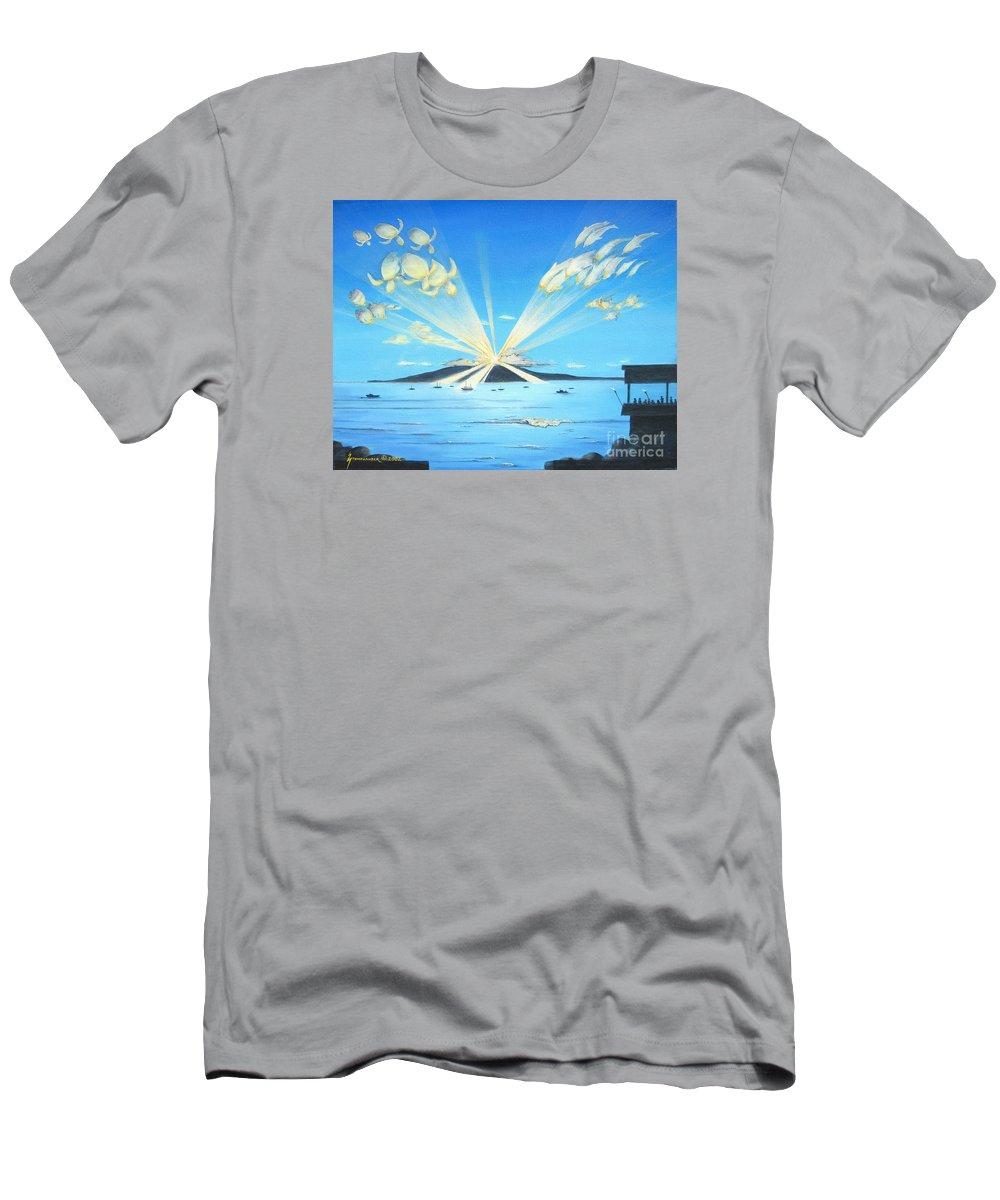 Maui T-Shirt featuring the painting Maui Magic by Jerome Stumphauzer