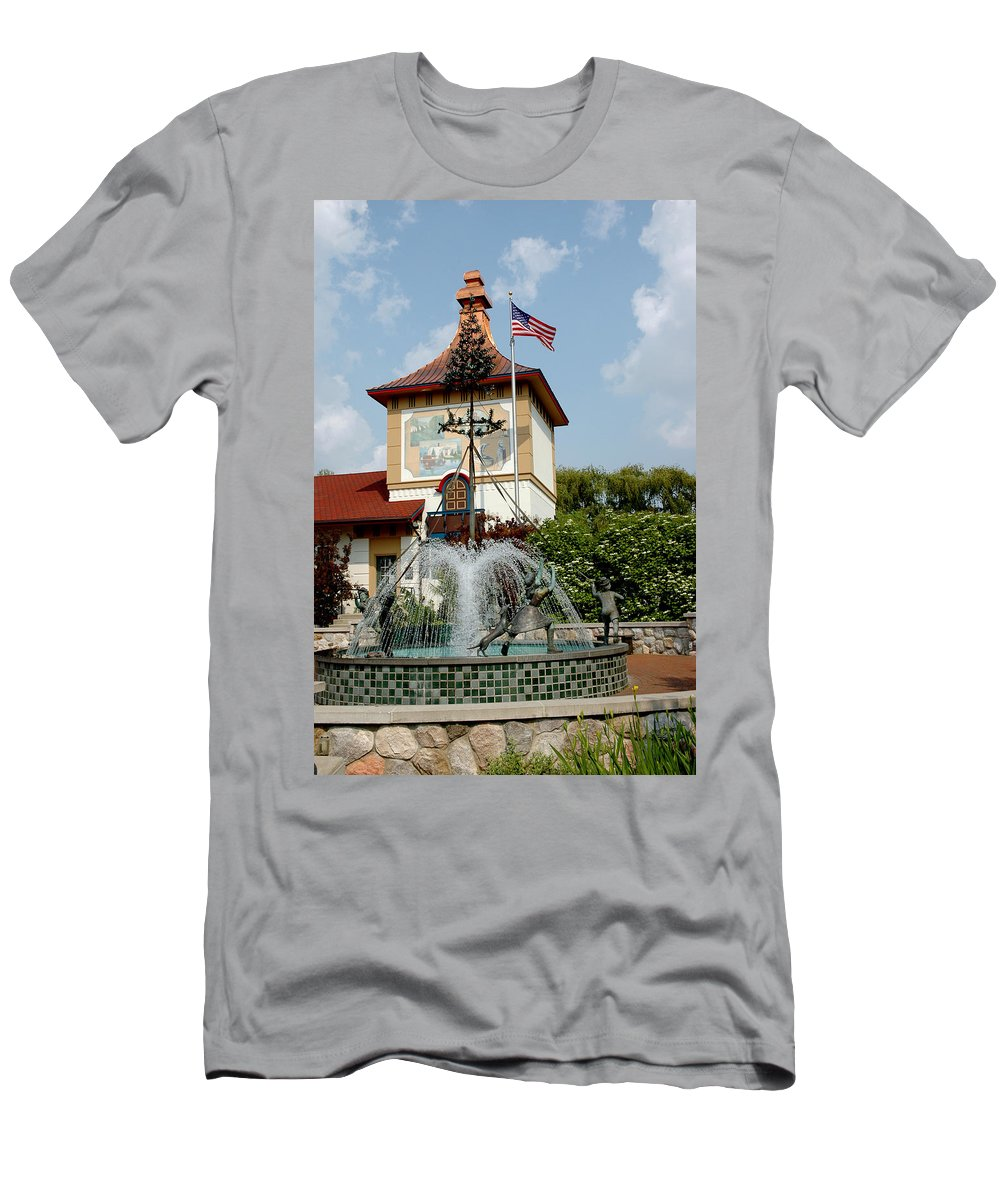 Usa Men's T-Shirt (Athletic Fit) featuring the photograph May Day Summer Celebration by LeeAnn McLaneGoetz McLaneGoetzStudioLLCcom