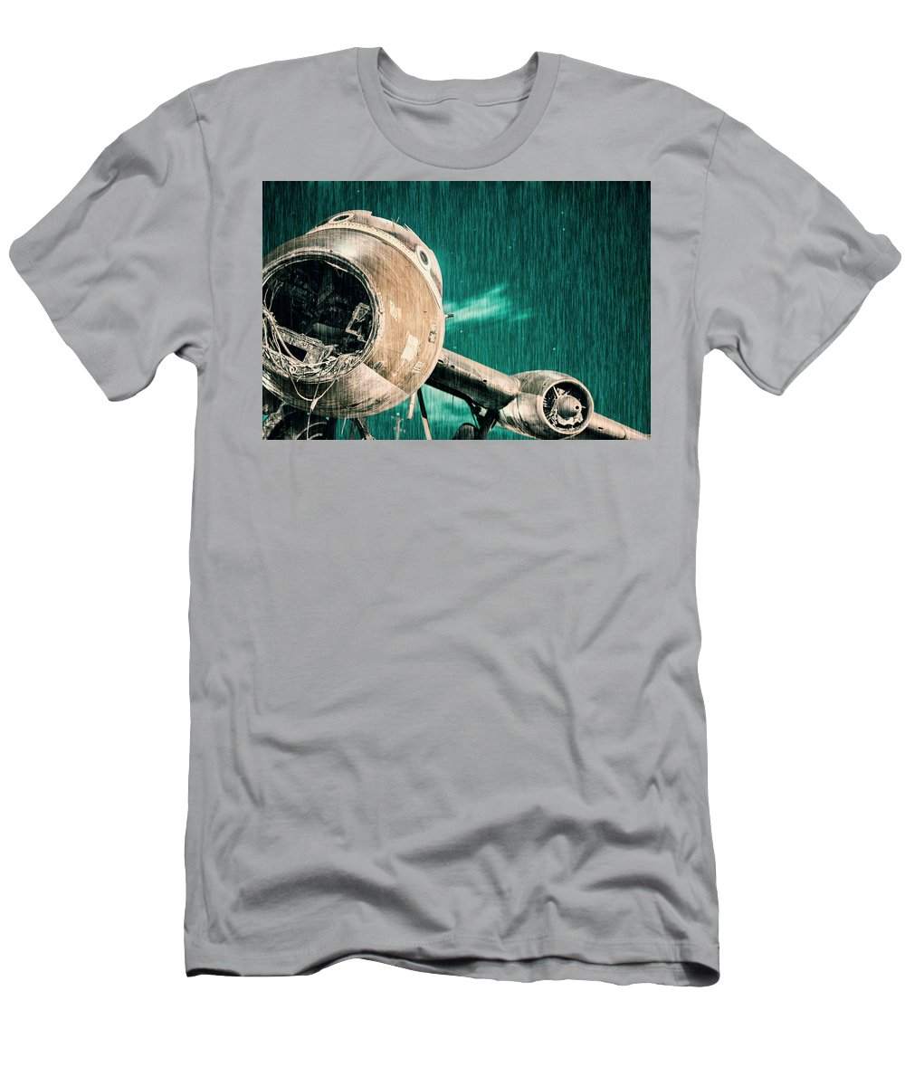 Aircraft Men's T-Shirt (Athletic Fit) featuring the photograph Mayday Mayday by Rob D