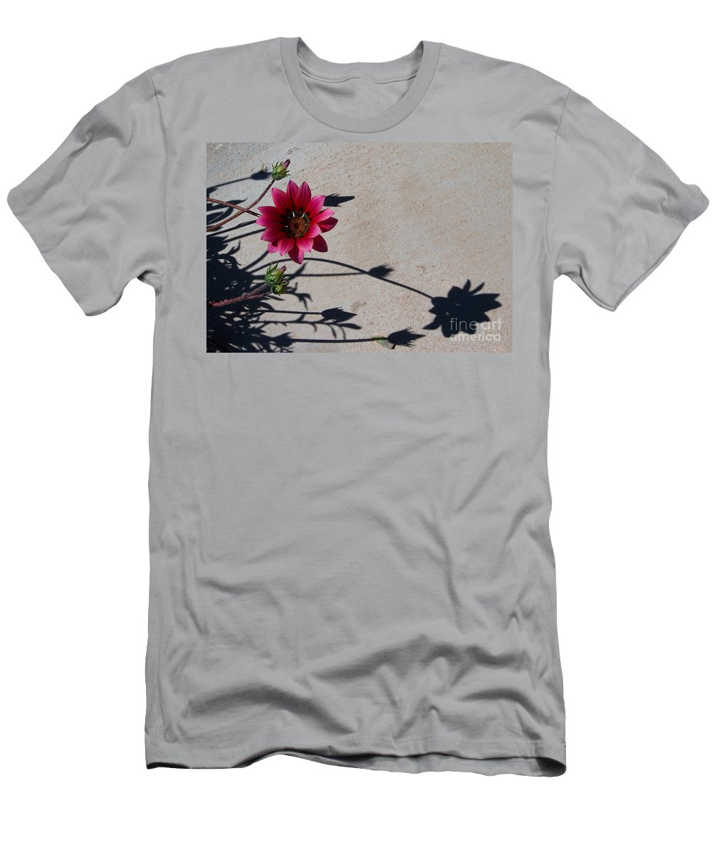 Flowers Men's T-Shirt (Athletic Fit) featuring the photograph Me And My Shadow by Kathy McClure