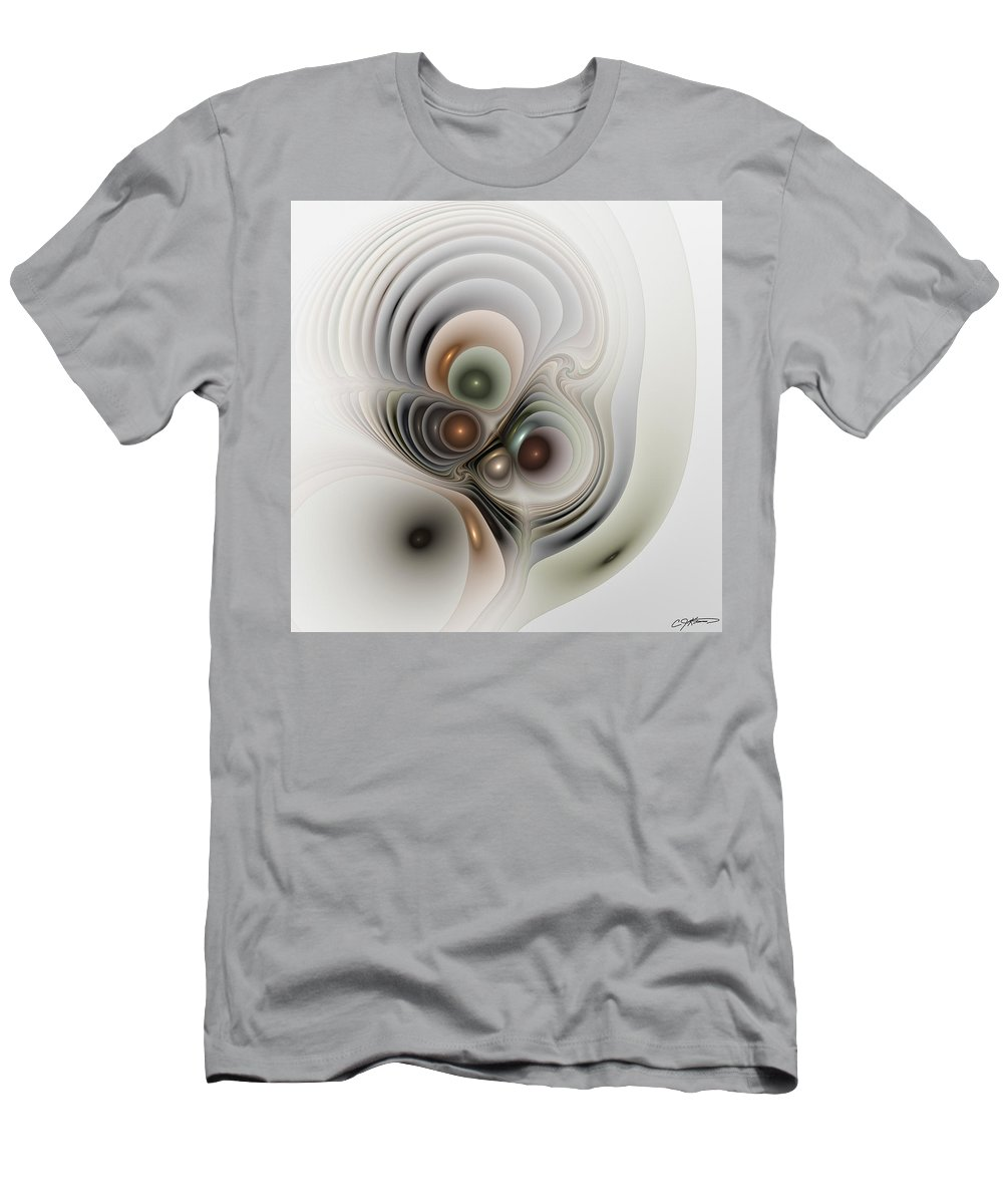 Abstract Men's T-Shirt (Athletic Fit) featuring the digital art Medulla by Casey Kotas