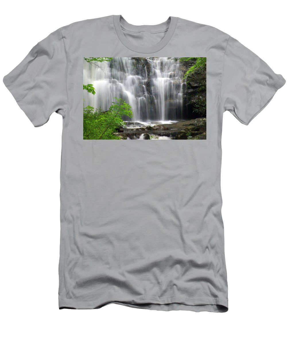 Meigs Falls Men's T-Shirt (Athletic Fit) featuring the photograph Meigs Falls 2 by Marty Koch