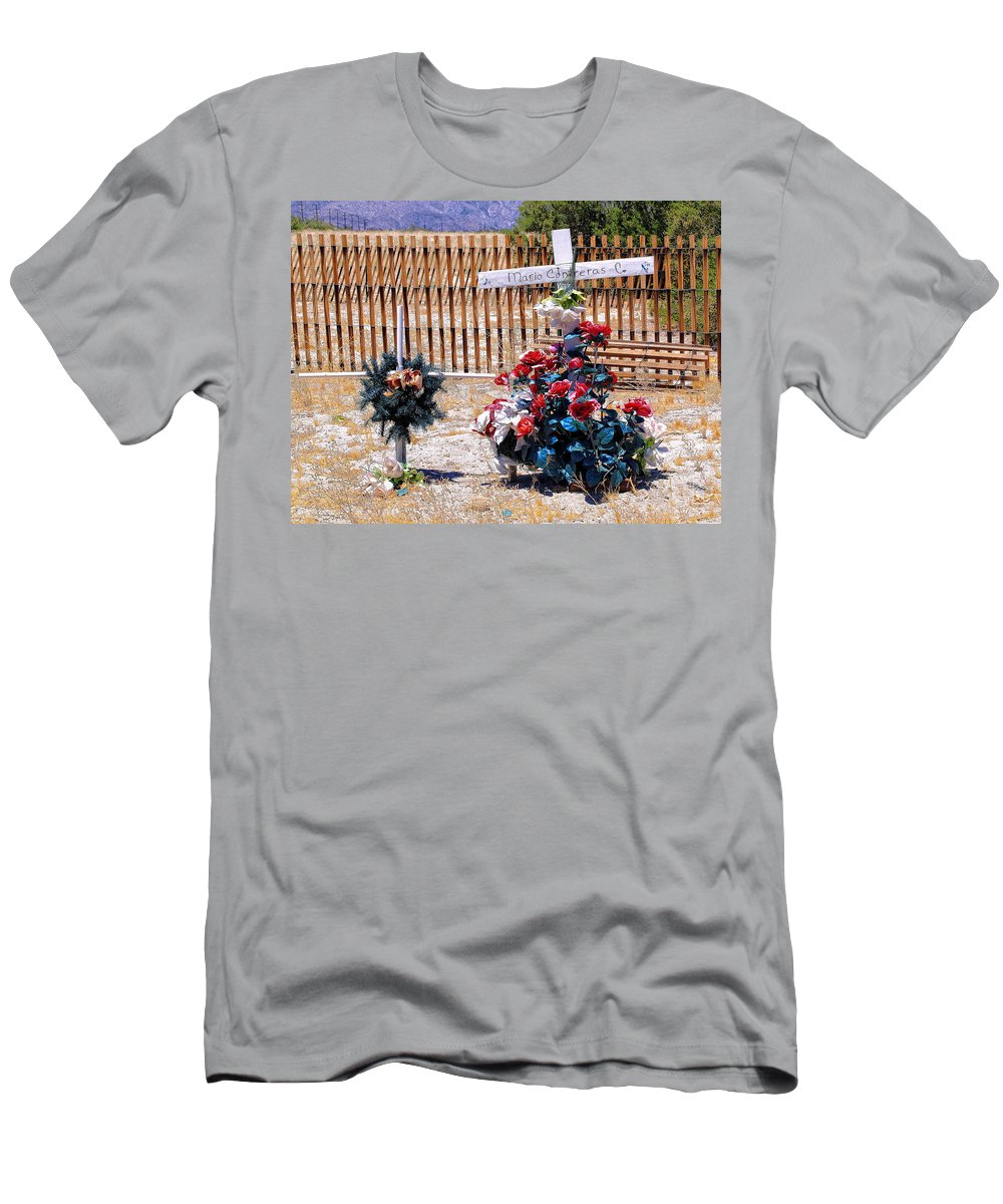 Memorial Men's T-Shirt (Athletic Fit) featuring the photograph Memorial 1 by Dominic Piperata