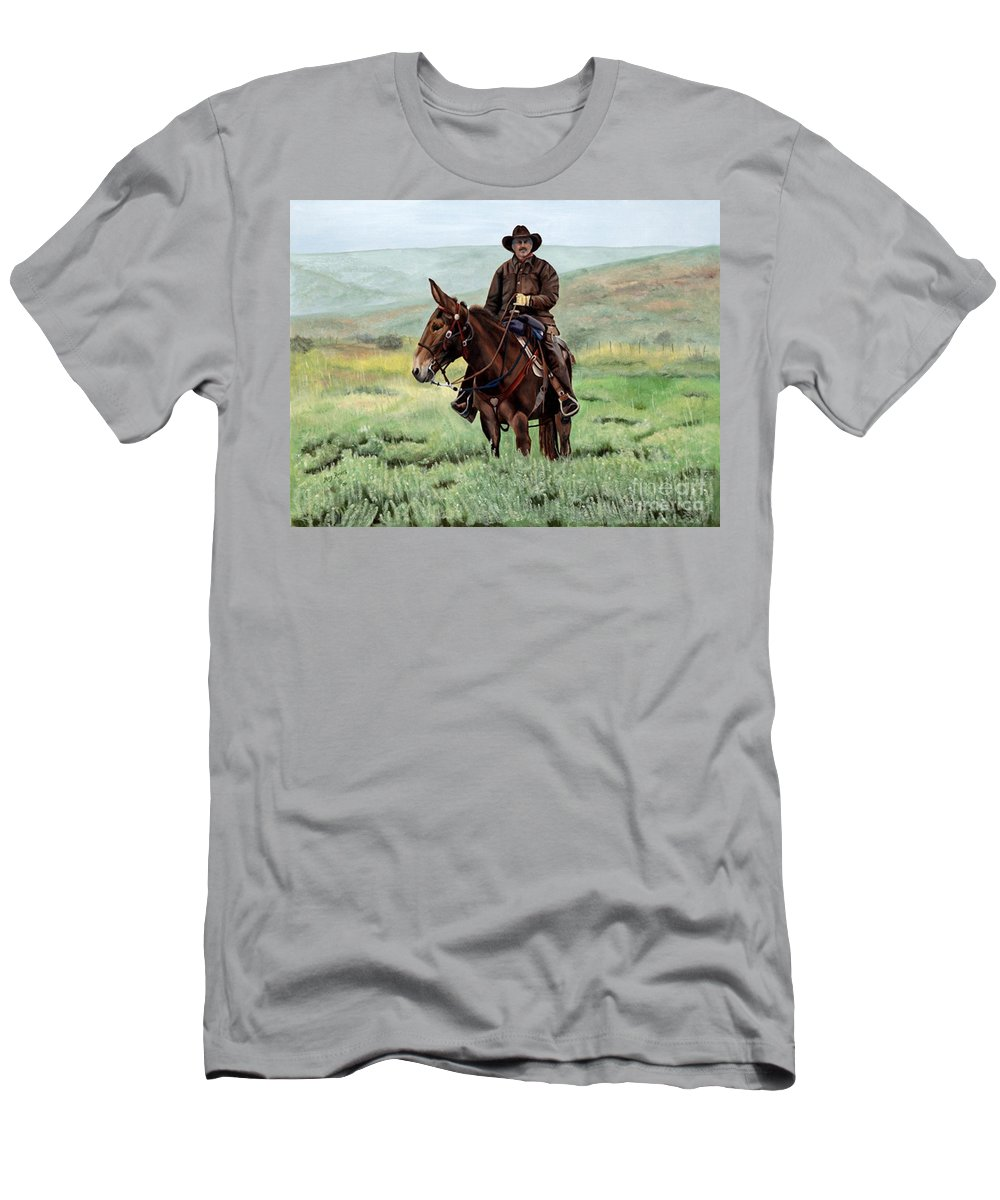 Usa Men's T-Shirt (Athletic Fit) featuring the painting Memories Of Molly by Mary Rogers
