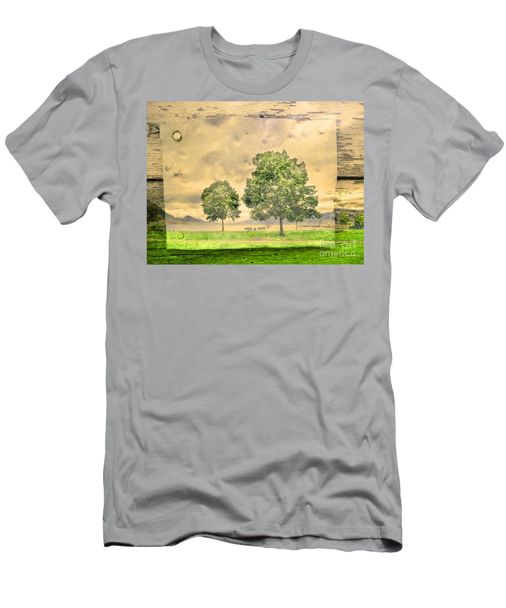 Lake Men's T-Shirt (Athletic Fit) featuring the photograph Memories Of The Lake by Tara Turner
