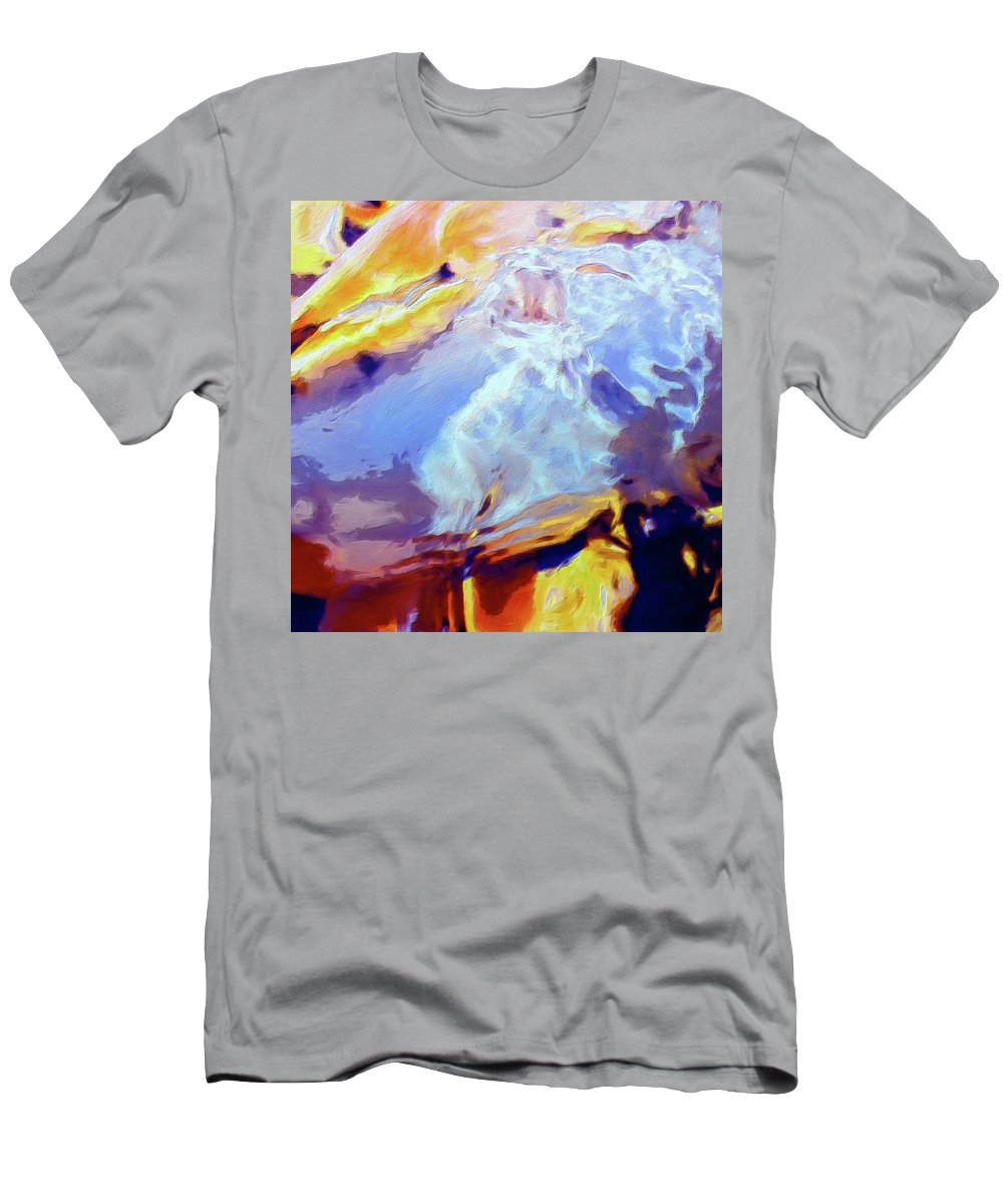 Abstract Men's T-Shirt (Athletic Fit) featuring the painting Metamorphosis by Dominic Piperata