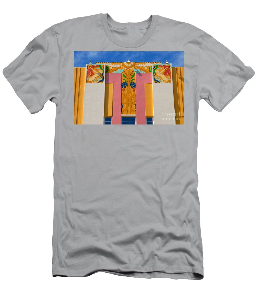 Miami Beach Florida Men's T-Shirt (Athletic Fit) featuring the photograph Miami Beach Art Deco by David Lee Thompson