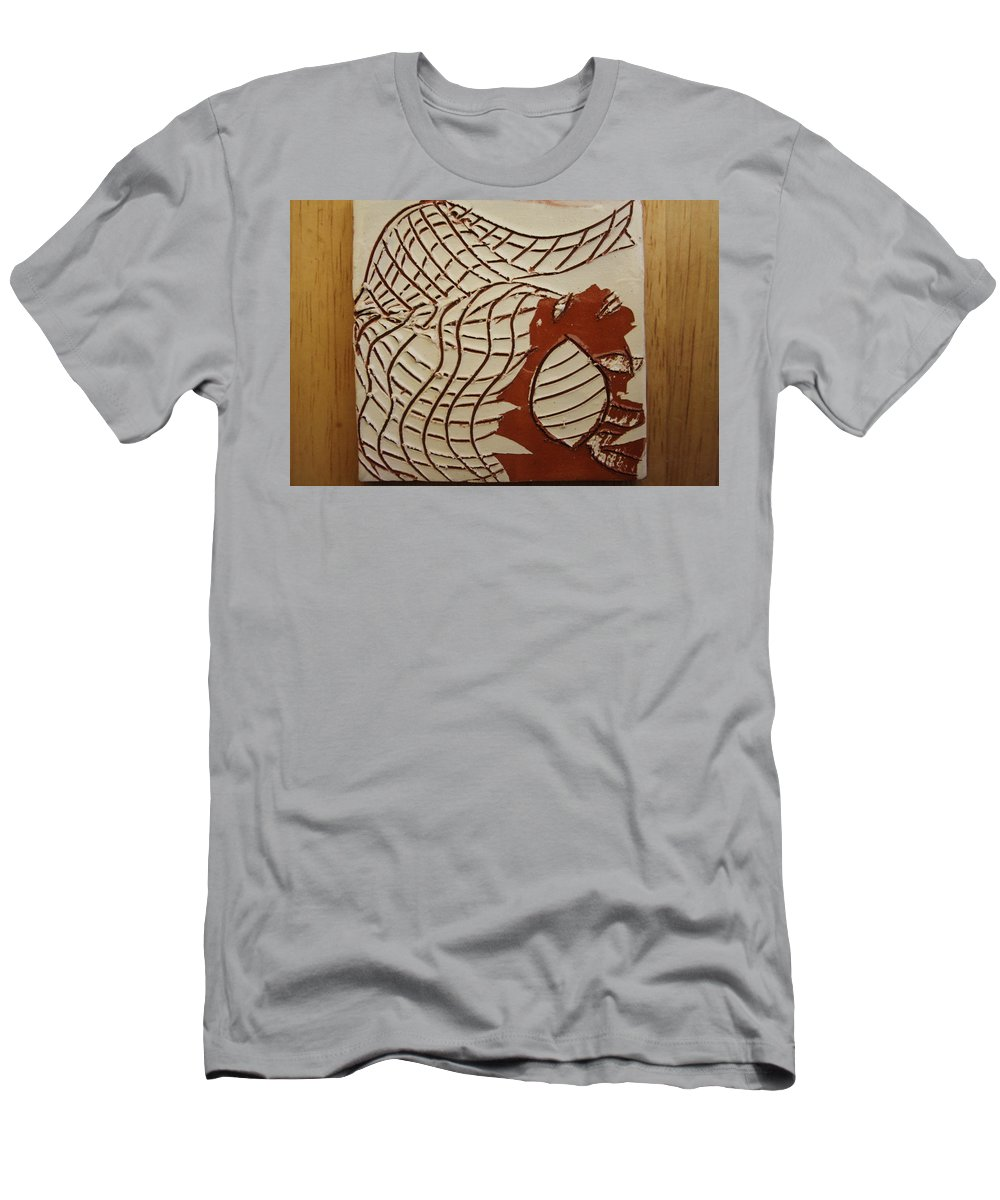 Jesus Men's T-Shirt (Athletic Fit) featuring the ceramic art Mica - Tile by Gloria Ssali