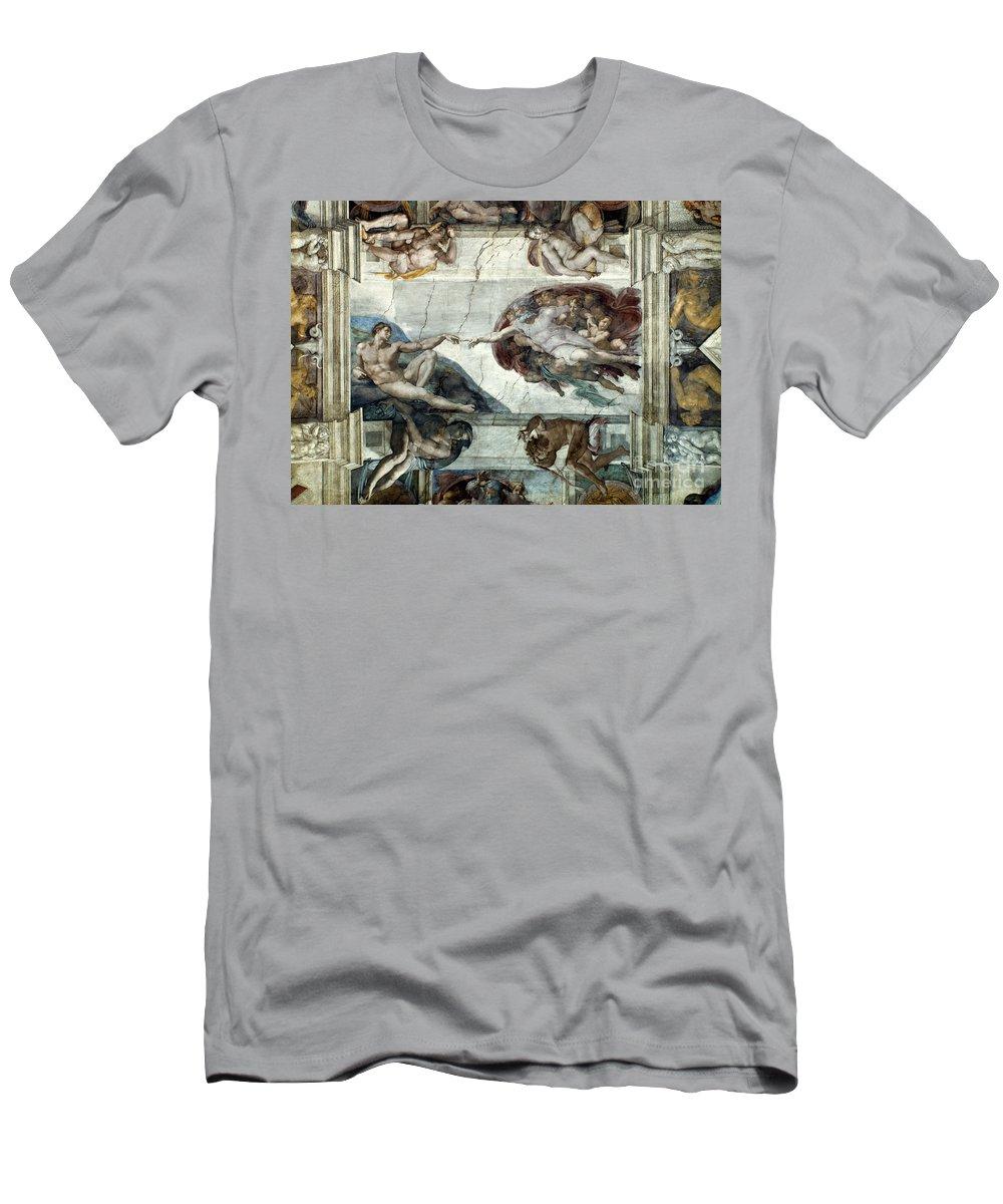 1510 Men's T-Shirt (Athletic Fit) featuring the photograph Michelangelo: Adam by Granger