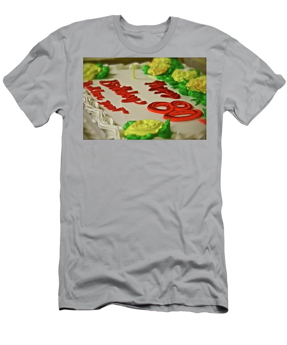 Food Men's T-Shirt (Athletic Fit) featuring the photograph Milestone by Diana Hatcher