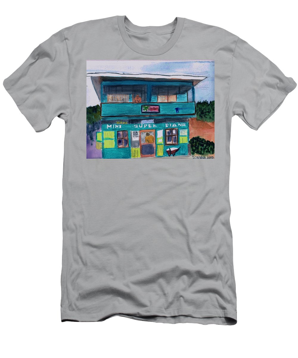 Market Men's T-Shirt (Athletic Fit) featuring the painting Mini Super Diana by Donna Walsh