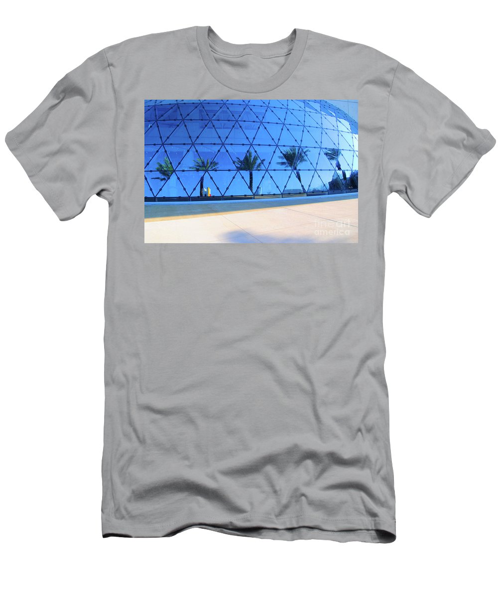 Building Men's T-Shirt (Athletic Fit) featuring the photograph Mirror Of Palms by Jost Houk