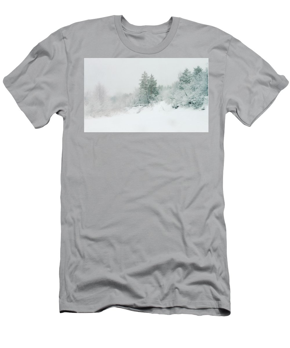 Misty Men's T-Shirt (Athletic Fit) featuring the photograph Misty Morning by Michail Shneider