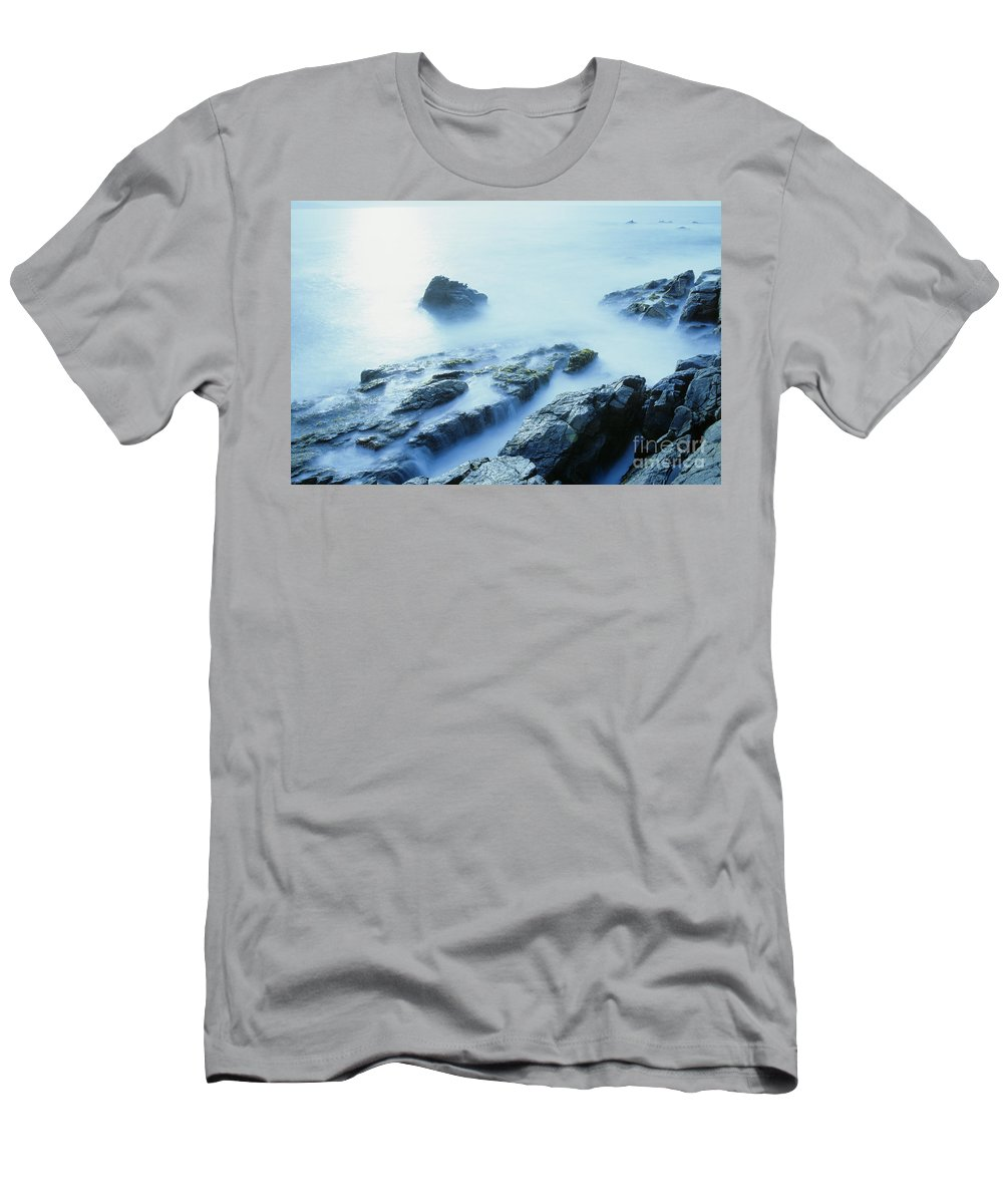 Abstract Men's T-Shirt (Athletic Fit) featuring the photograph Misty Ocean by Larry Dale Gordon - Printscapes