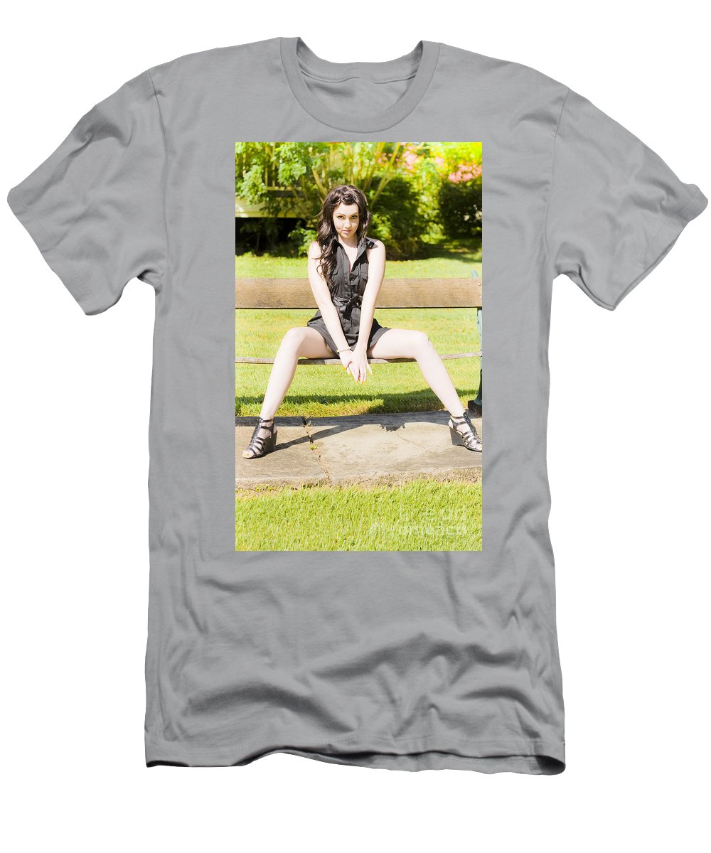 Bright Men's T-Shirt (Athletic Fit) featuring the photograph Model by Jorgo Photography - Wall Art Gallery