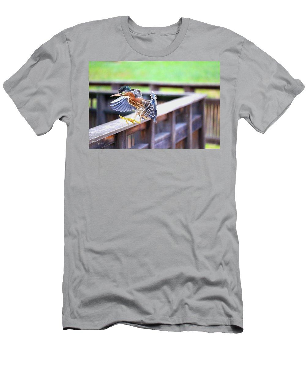 T-Shirt featuring the photograph Mohawk Landing by Tony Umana