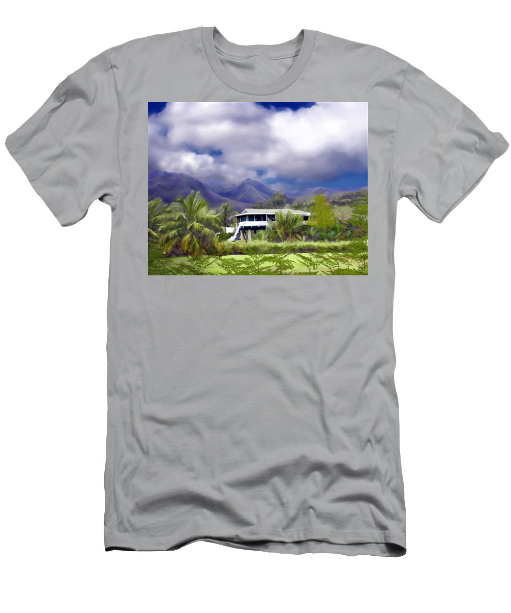 Hawaii Men's T-Shirt (Athletic Fit) featuring the photograph Moloa A Bay Hideaway by Kurt Van Wagner