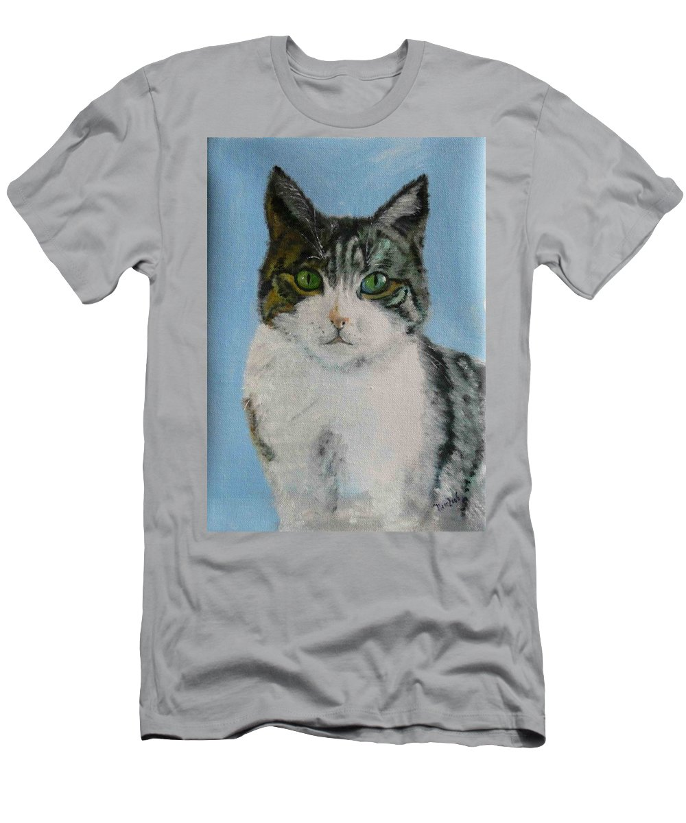 Tomcat Men's T-Shirt (Athletic Fit) featuring the painting Momo by Helmut Rottler
