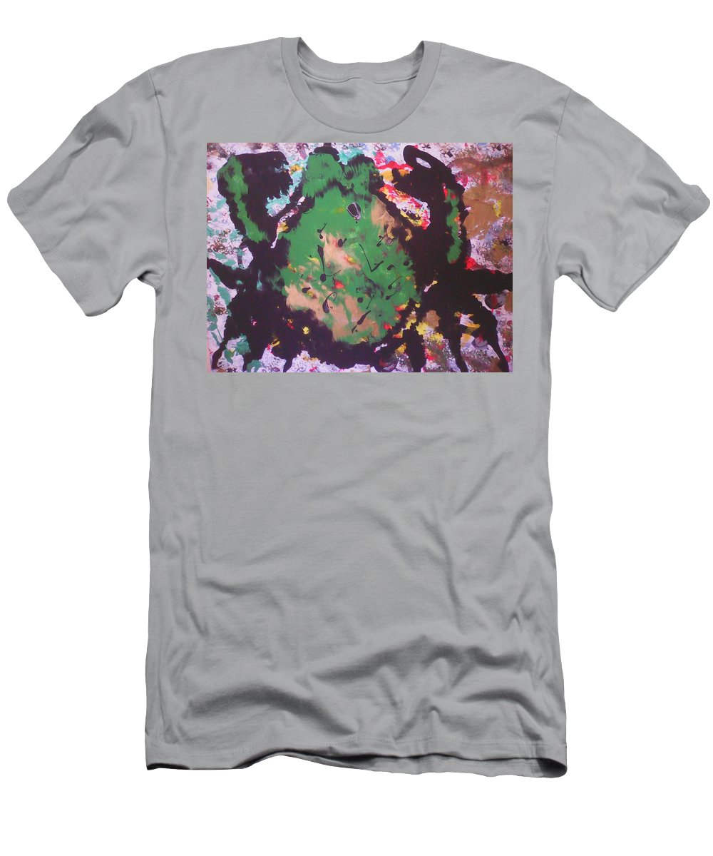 Abstract Art Men's T-Shirt (Athletic Fit) featuring the painting Monster Bug by Marcela Hessari