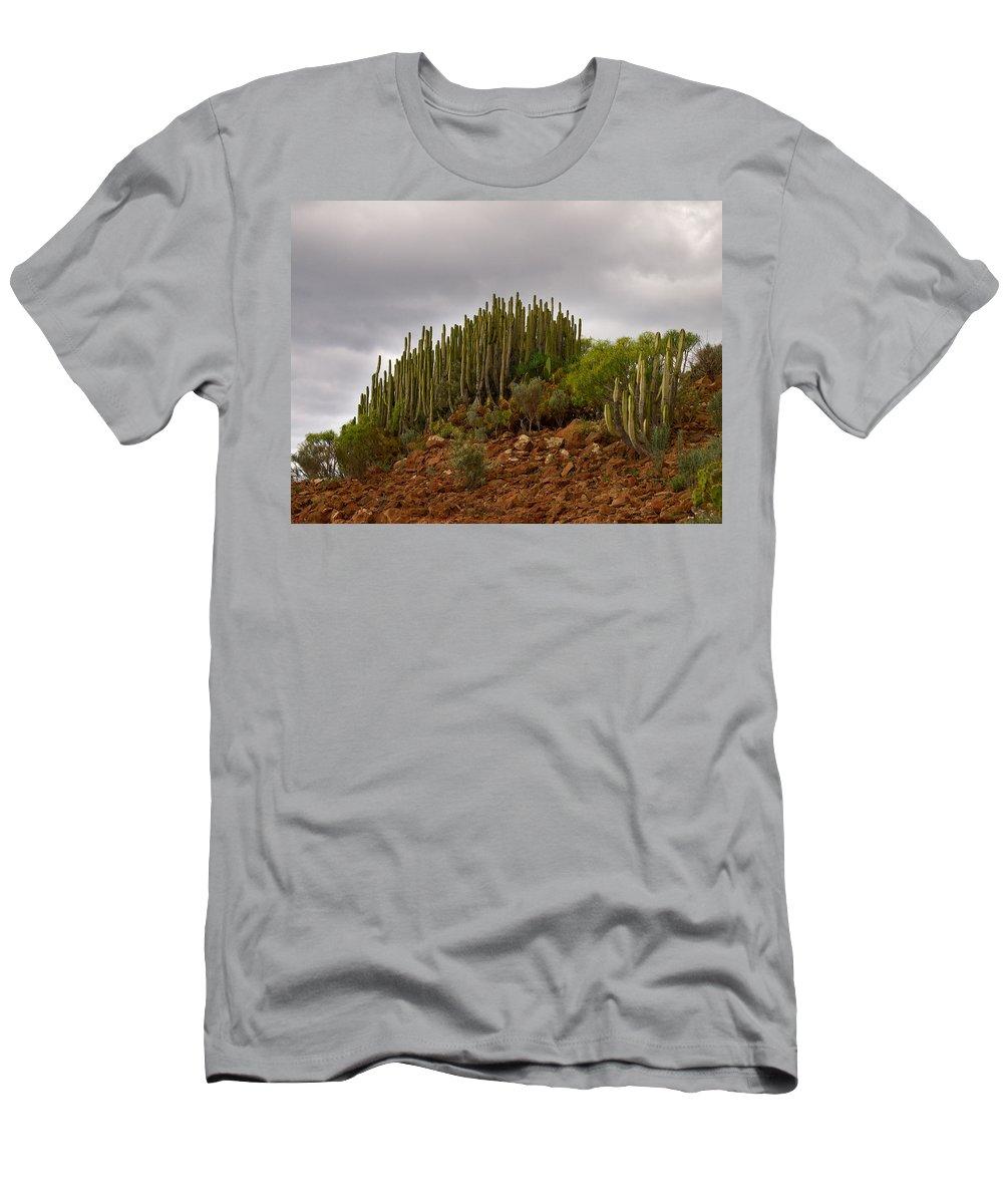 Landscape Men's T-Shirt (Athletic Fit) featuring the photograph Montana De Gueza by Jouko Lehto