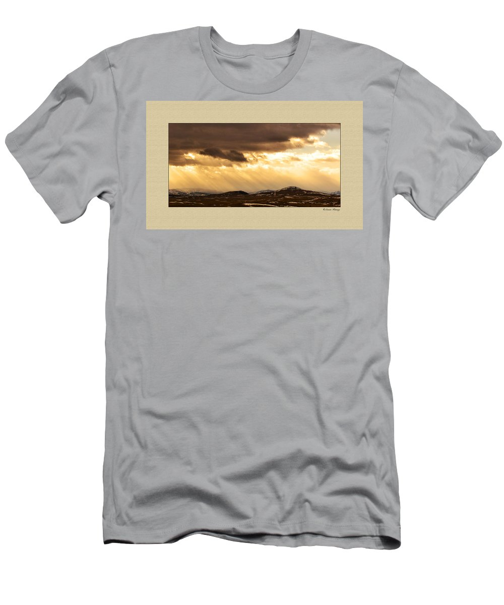 Montana Men's T-Shirt (Athletic Fit) featuring the photograph Montana Gold by Susan Kinney