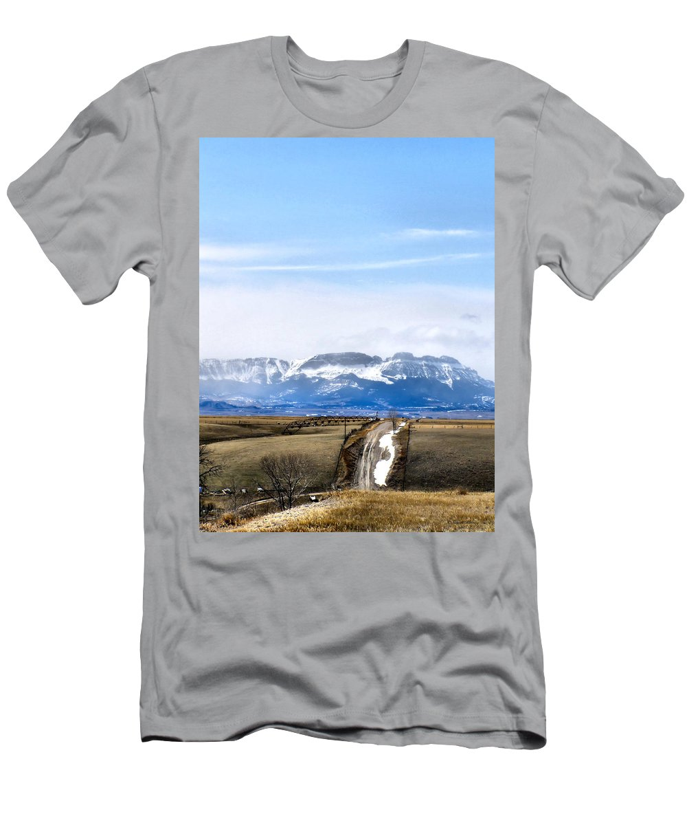 Montana Men's T-Shirt (Athletic Fit) featuring the photograph Montana Scenery One by Susan Kinney