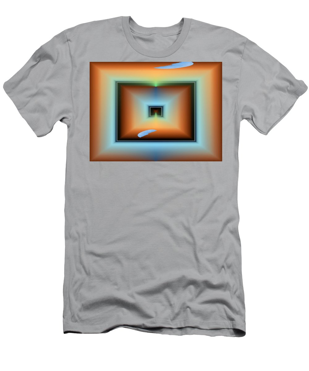 Abstract Men's T-Shirt (Athletic Fit) featuring the digital art Moonrising by Tim Allen