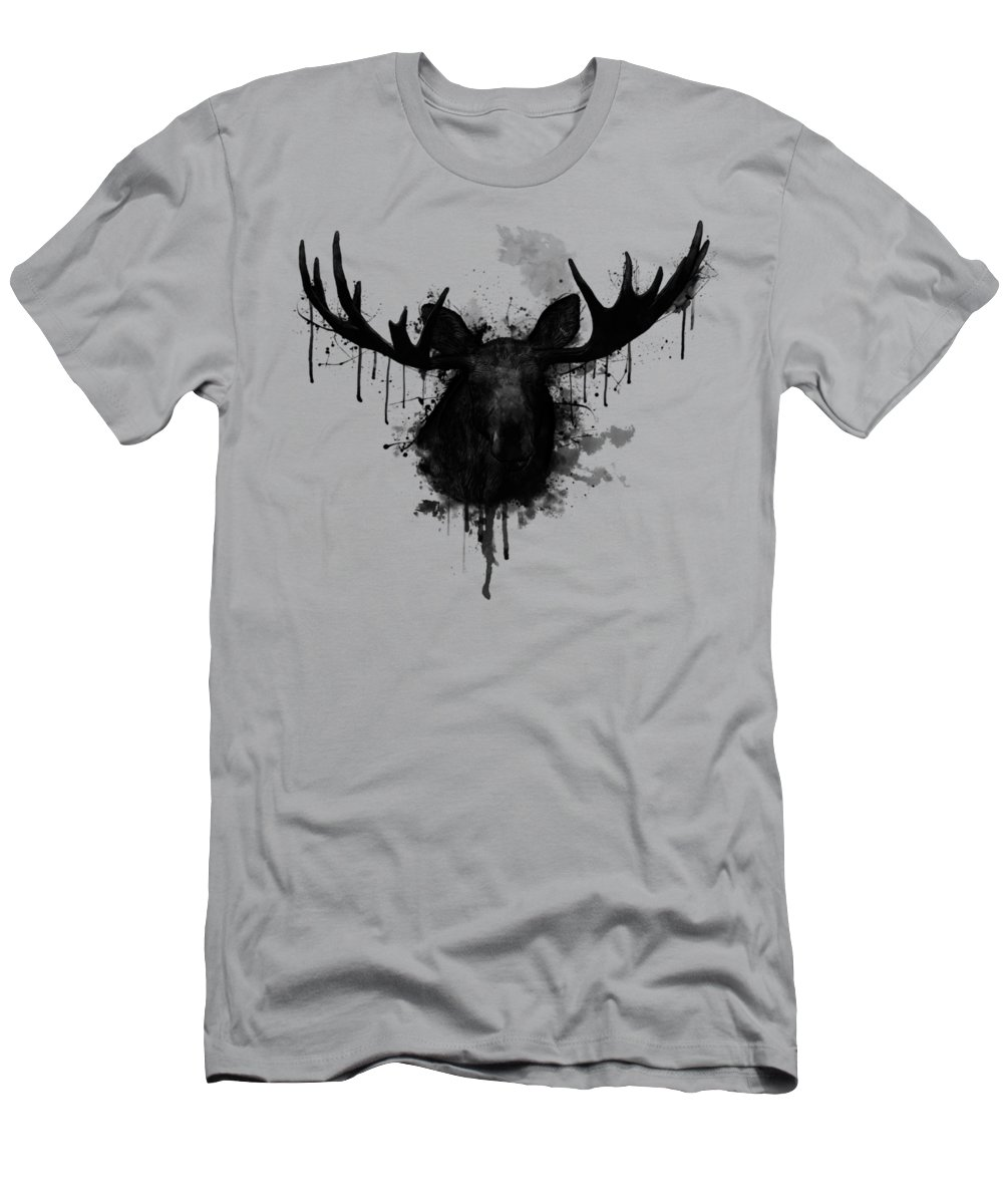 Moose Men's T-Shirt (Athletic Fit) featuring the digital art Moose by Nicklas Gustafsson