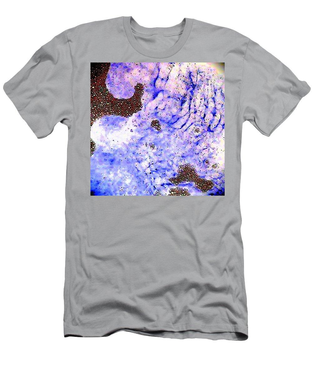 Blue Purple Bubbles Waves Strange Men's T-Shirt (Athletic Fit) featuring the photograph More Bubbles by Cindy New