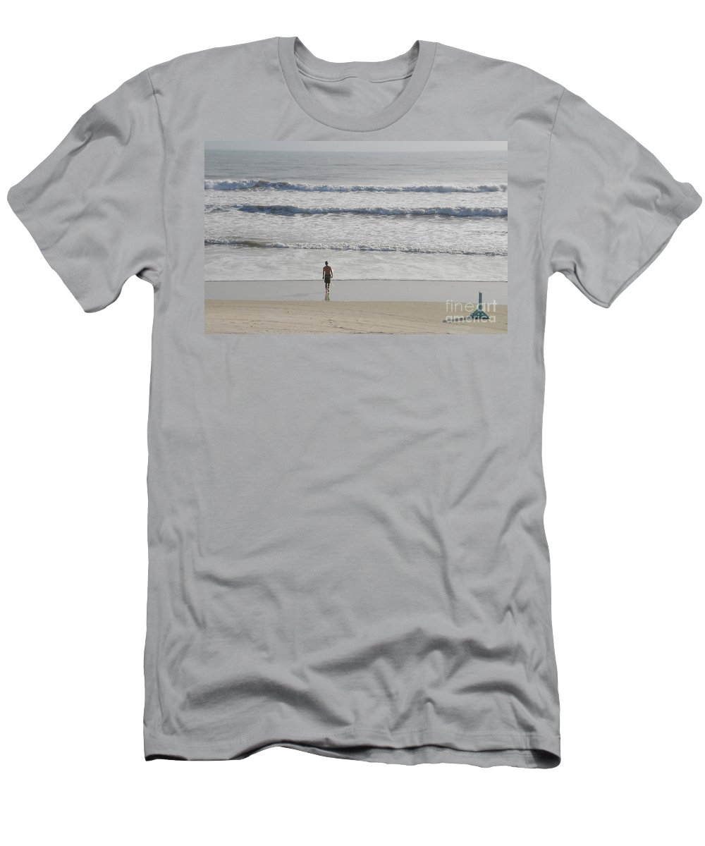 Surfing Men's T-Shirt (Athletic Fit) featuring the photograph Morning Surf by David Lee Thompson
