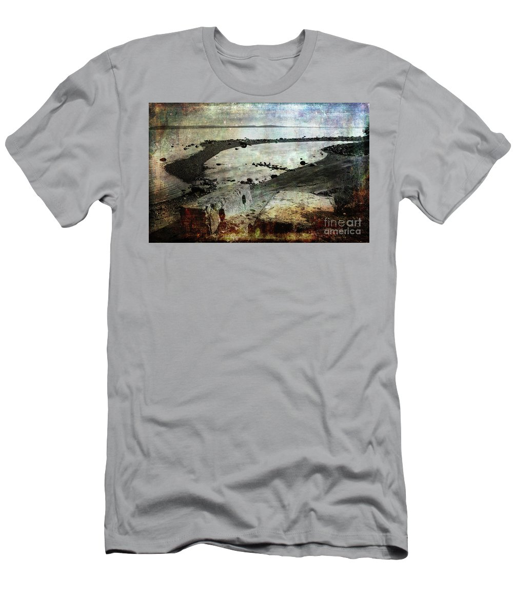 Ocean Men's T-Shirt (Athletic Fit) featuring the photograph Mother Nature Rules by Randi Grace Nilsberg
