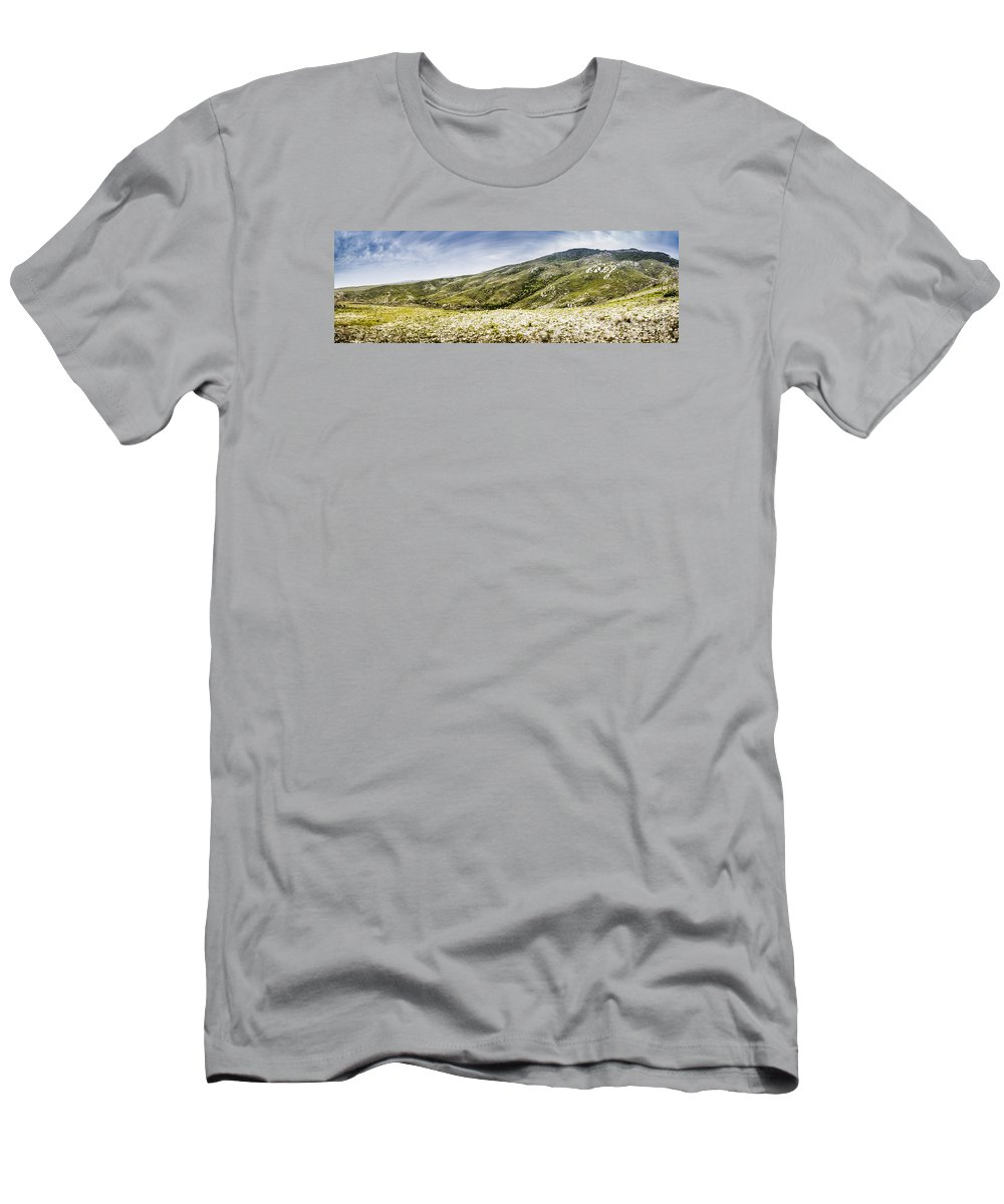 Mountain Men's T-Shirt (Athletic Fit) featuring the photograph Mount Agnew Landscape In Tasmania by Jorgo Photography - Wall Art Gallery